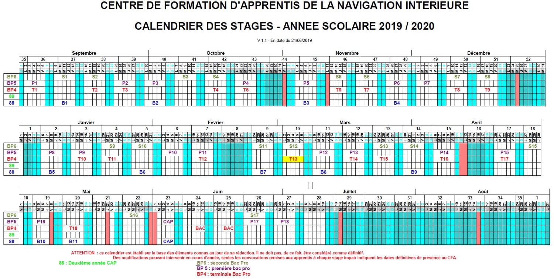 Calendrier Cfa 2020 2019.Le Calendrier Des Stages Au Cfani Cfani Centre De